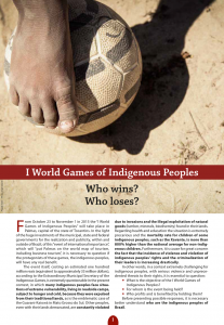 I World Games of Indigenous Peoples: Who wins? Who loses?