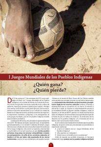 I Juegos Mundiales de los Pueblos Indígenas: ¿Quién gana? ¿Quién pierde?