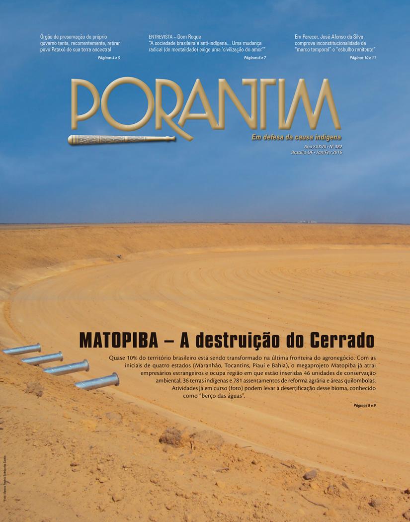 Jornal Porantim 382: Matopiba – A destruição do Cerrado
