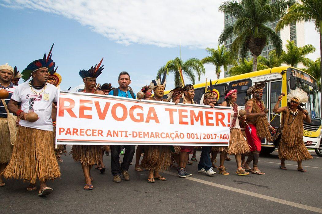 Marcha pela revogação do Parecer 001/AGU. Foto: Guilherme Cavalli/Cimi