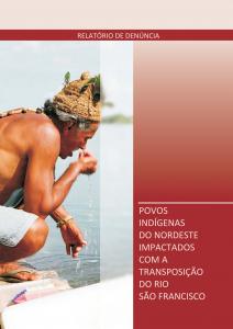Povos indígenas do NE impactados com a transposição do rio São Francisco