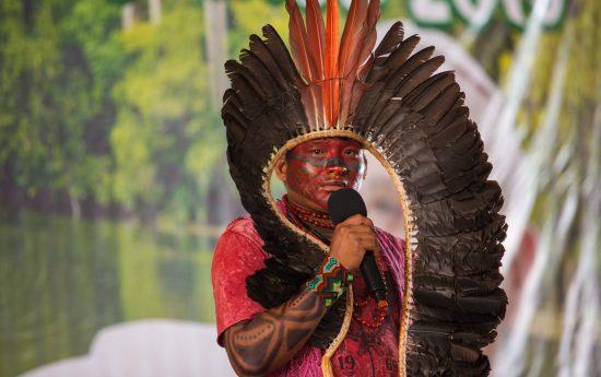 No dia 18, povos indígenas do Brasil participaram de assembleia da Rede Eclesial Pan-Amazônica, onde compartilharam relatos e experiências com outros povos da América Latina. Foto: Tiago Miotto/Cimi