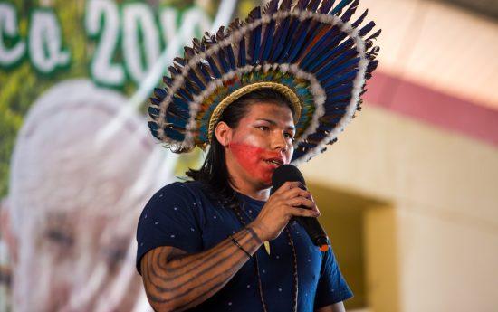 Kanynary Apurinã, jovem liderança da coordenação da Focimp - Federação das Organizações e Comunidades Indígenas do Médio Purus. Foto: Tiago Miotto/Cimi