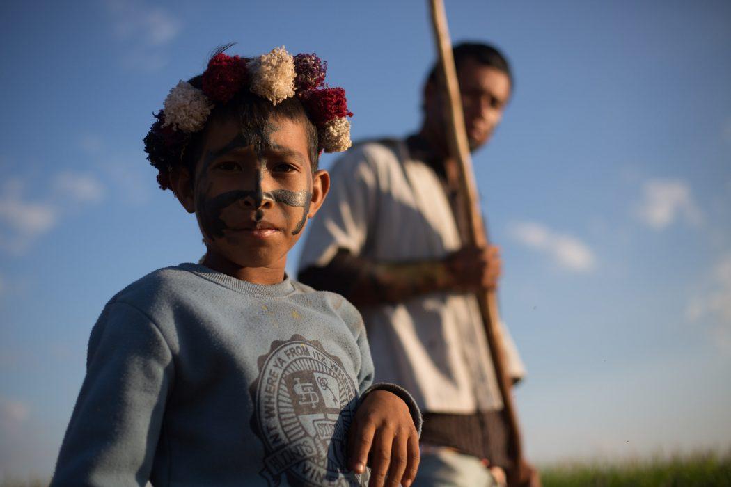 A comunidade de Guapo'y mobilizou-se para resistir à reintegração. Foto: Tiago Miotto/Cimi