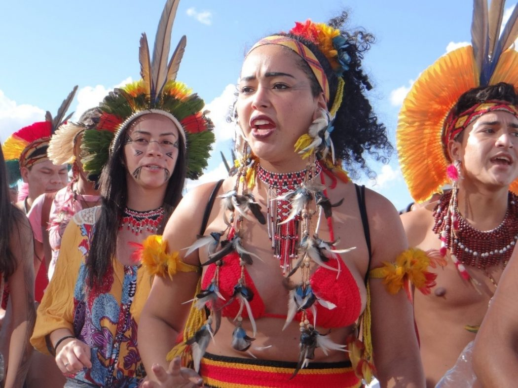 Estudantes indígenas e quilombolas estiveram em Brasília em mobilização por políticas de permanência nas universidades. Foto: Laila Menezes/Cimi