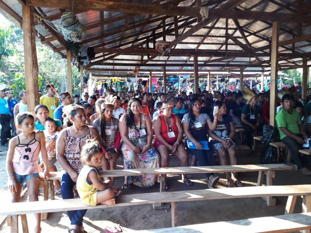 Encontro naTI Kapyra-Kanakury foi articulado pela Federação de Organizações e Comunidades Indígenas do Médio Purus (FOCIMP). Foto: Hoadson Silva/Cimi Norte 1