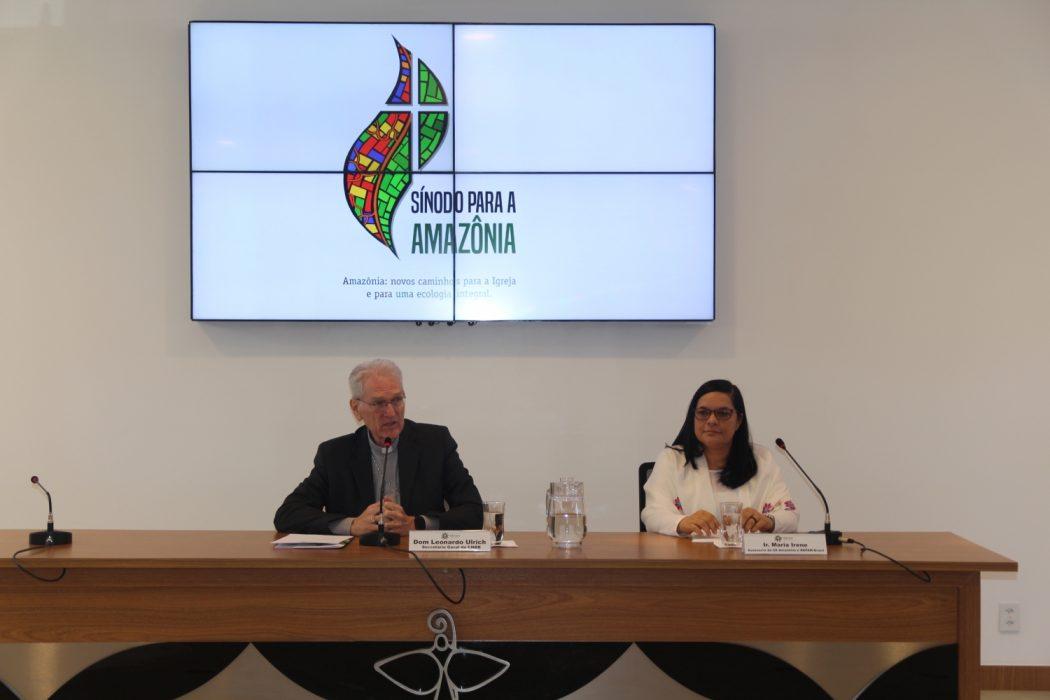 Lançamento do documento preparatório ao Sínodo da Amazônia na CNBB, em Brasília. Foto: Repam-Brasil
