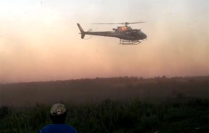 Indígenas denunciaram truculência da ação policial no tekoha Guapo'y. Imagem: indígenas Guarani e Kaiowá