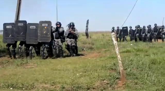 MPF avaliará ilegalidade da ação policial contra indígenas do tekoha Guapo'y. Foto: indígenas Guarani e Kaiowá