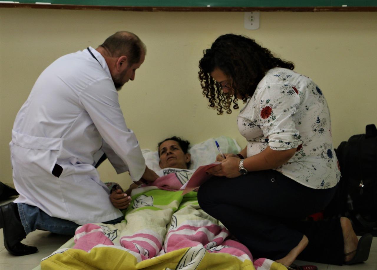 Avaliação médica do estado de saúde de Zonália Santos, no quarto dia de greve. Foto: Adilvane Spezia/MPA e Rede Soberani