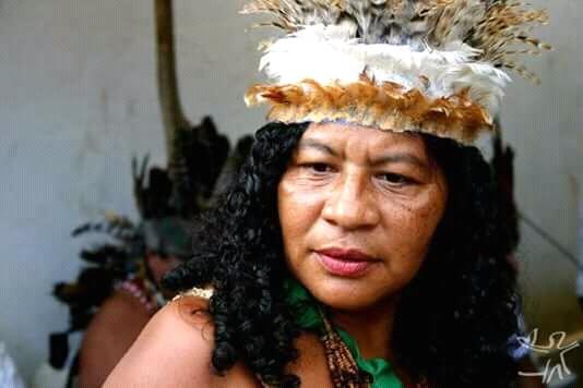 Cacique Madalena Pitaguary, baleada em atentado nesta quarta (12). Foto: arquivo pessoal