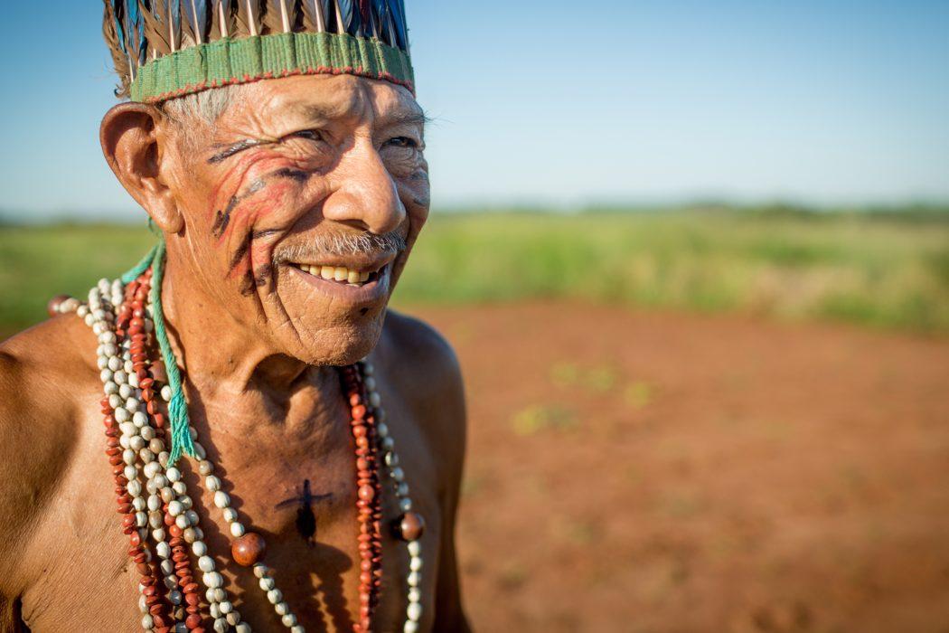 Seu Tito Vilhalva conta 99 anos de vida e lembra da juventude vivida no Guyraroka. Foto: Tiago Miotto/Cimi
