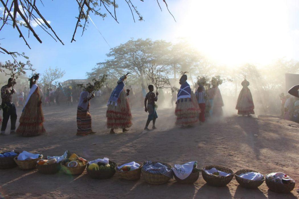 Corrida do Imbu, ritual realizado tradicionalmente na TI Pankararu. Foto: arquivo povo Pankararu