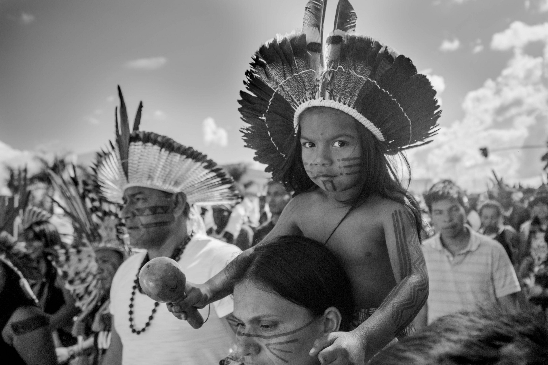 Acampamento Terra Livre 2018, menino Guarani. Foto: Guilherme Cavalli