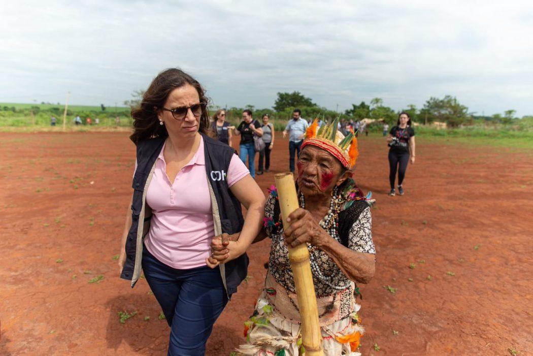 A Terra Indígena Guyraroka, afetada pelo marco temporal, foi uma das áreas visitadas durante a passagem da CIDH pelo Mato Grosso do Sul. Foto: CIDH/divulgação