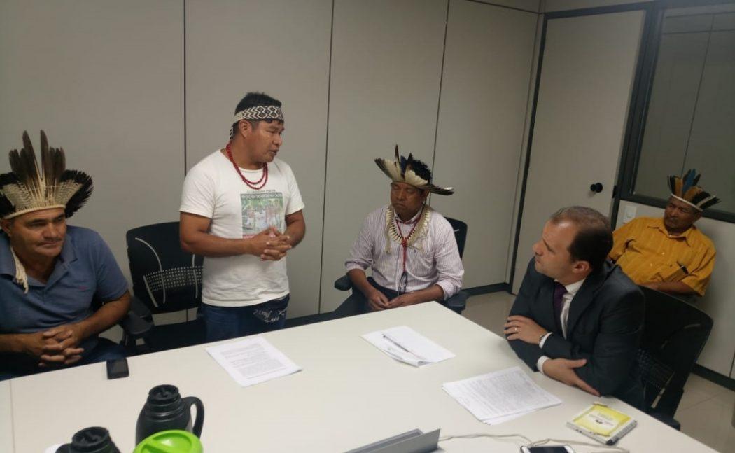 Coordenador Tenondé da Comissão Guarani Yvyrupa (CGY), Marcos dos Santos Tupã. Foto: Michelle Calazans, Ascom Cimi