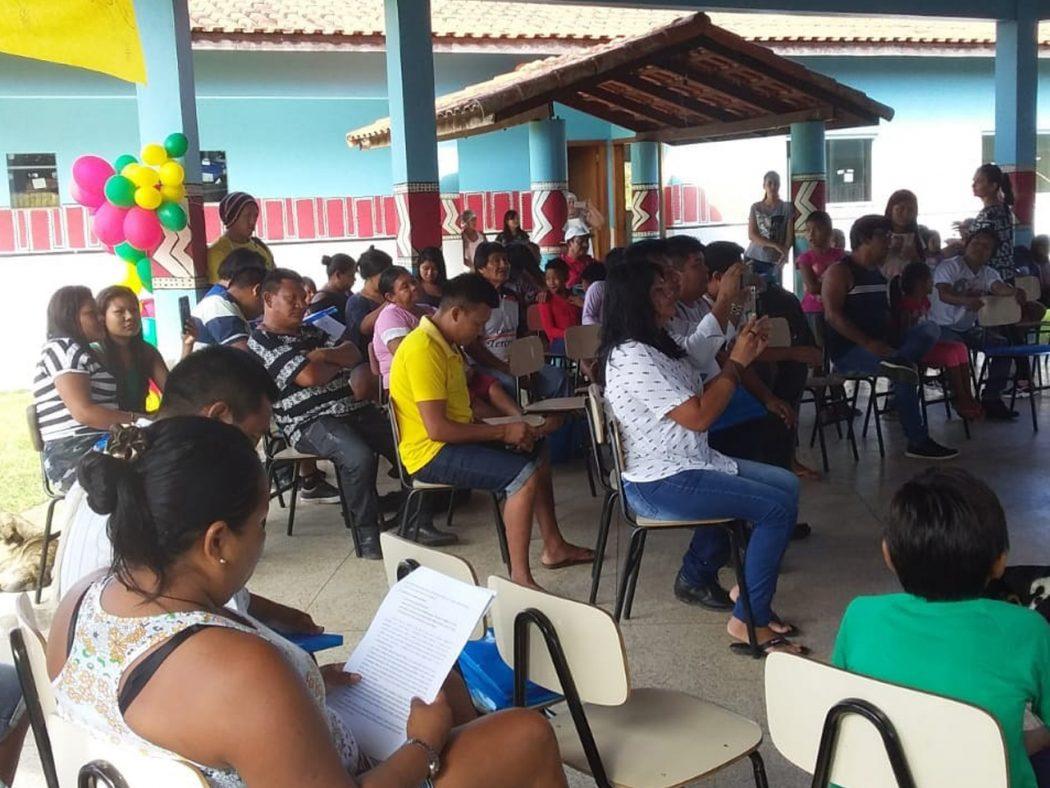 6a Conferencia Local de Saúde Indígena – Polo Base Porto Velho ocorreu na na aldeia Central, Terra Indígena Karitiana. Foto: Cimi Rondônia