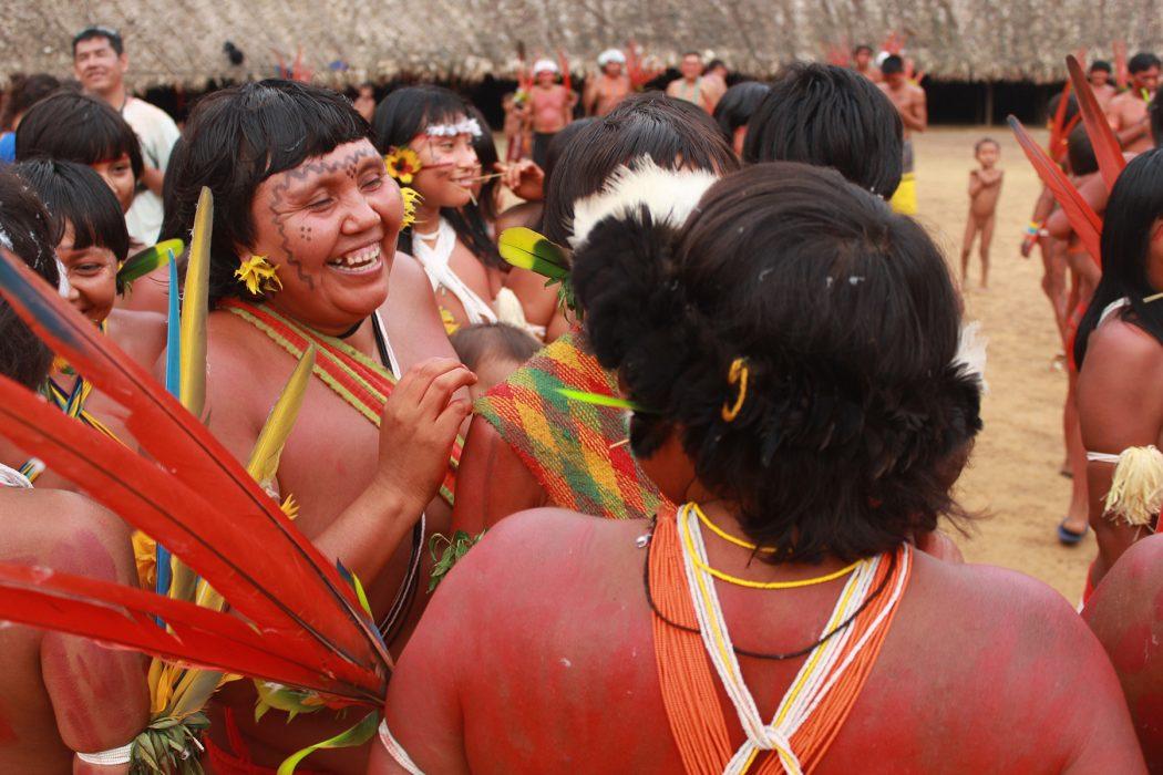 Ritual de boas vindas. Foto: Adriana Huber Azevedo/Cimi Norte 1