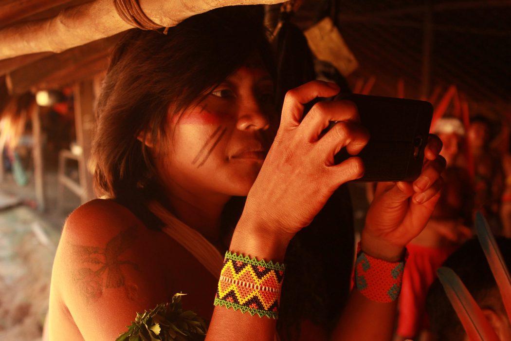 Tarisa Yanomami, da equipe de comunicação do encontro. Foto: Adriana Huber Azevedo/Cimi Norte 1