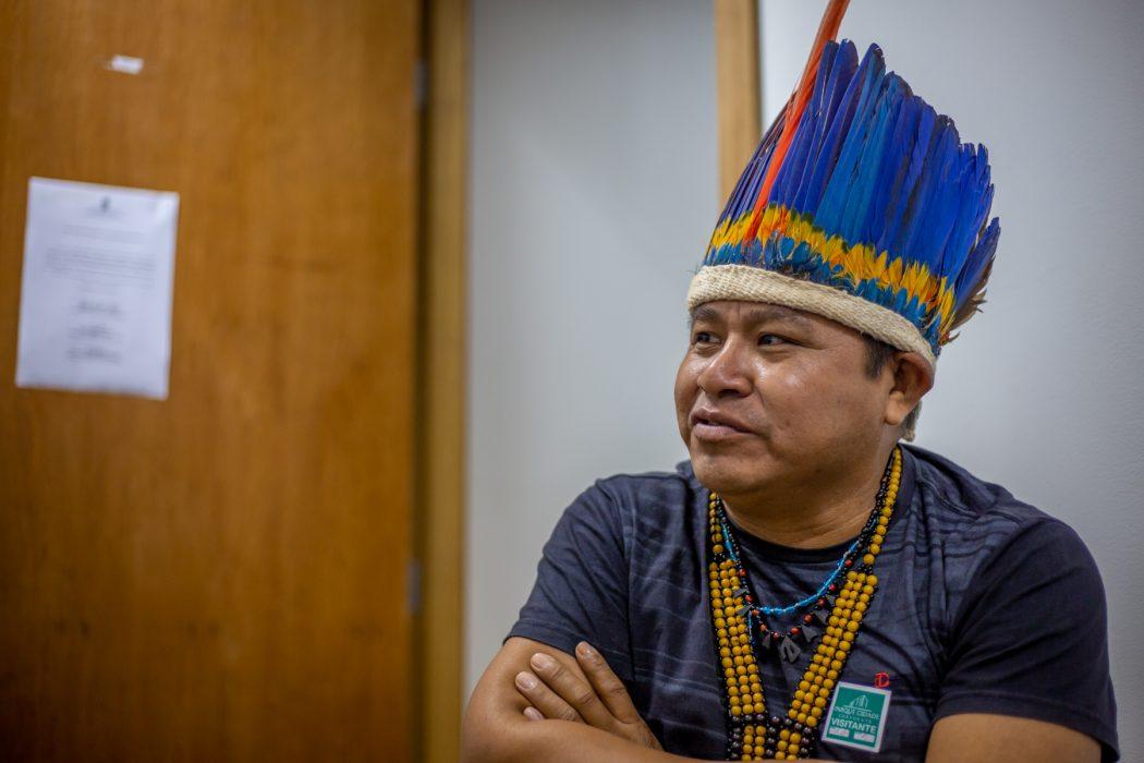 Edinho Batista Macuxi, vice-coordenador do Conselho Indígena de Roraima (CIR), ressalta que apesar do discurso preconceituoso contra os indígenas, ainda há demandas territoriais não atendidas em Roraima. Foto: Tiago Miotto/Cimi