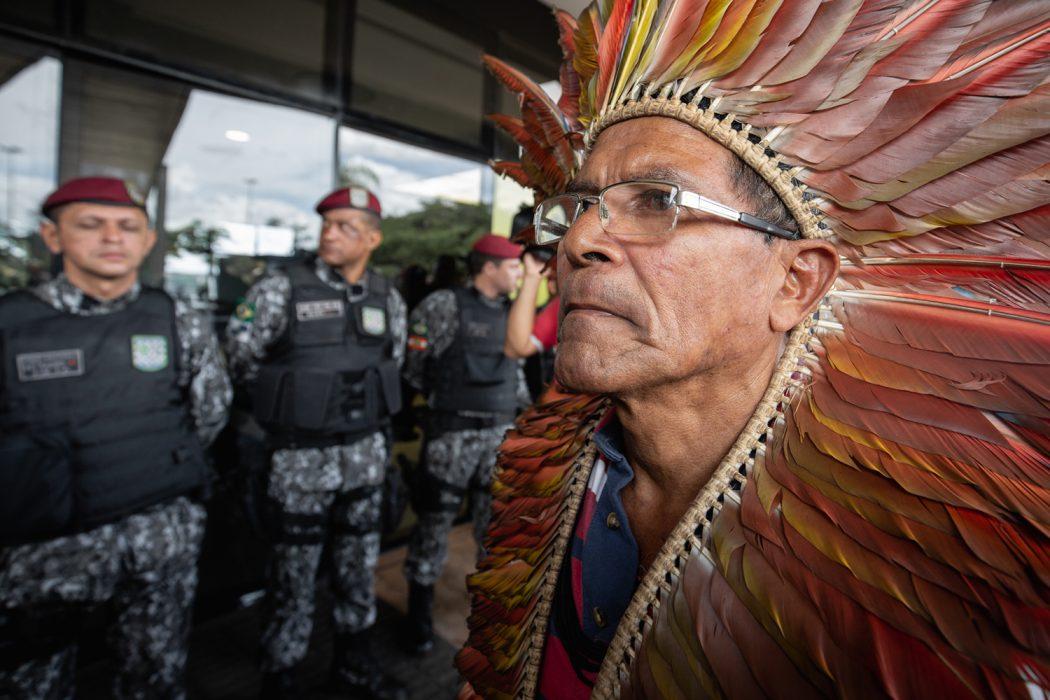 Indígenas não foram recebidos pela equipe de transição. Foto: Tiago Miotto/Cimi