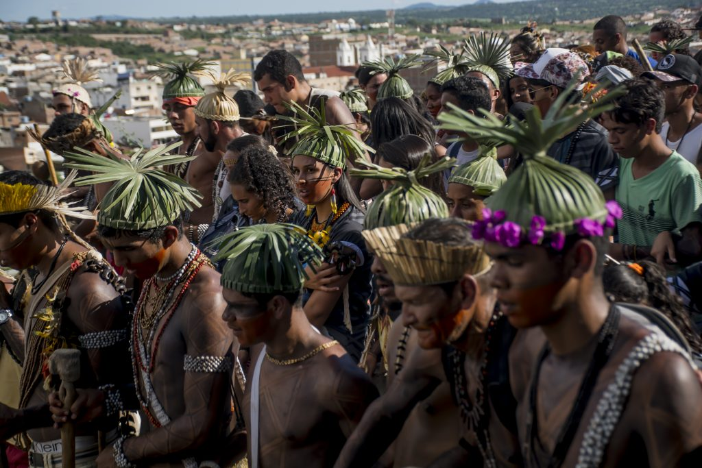 Indígenas realizaram na Serra do Ororubá, em Pernambuco, a 19ª Assembleia Xukuru de Ororubá. Foto: Meyriane de Mira/Mídia Ninja