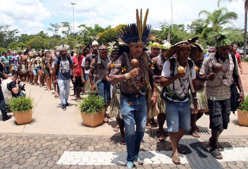No final de 2018, indígenas reivindicaram à equipe de transição do governo Bolsonaro que a Funai fosse mantida no ministério da Justiça com todas as suas atribuições. Foto: Michelle Calazans/Cimi