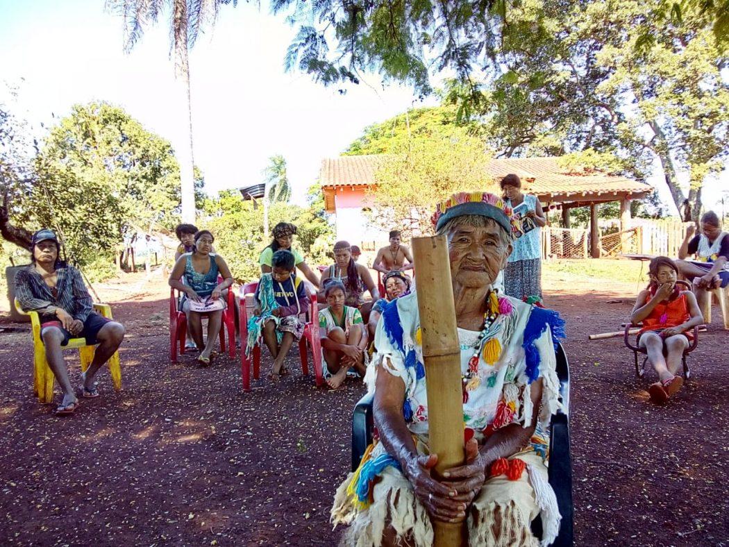O despejo contra parte de Laranjeira Nhanderu pode afetar 38 famílias e cerca de oitenta pessoas - muitas das quais crianças e idosos, como a anciã Alda Mariano de Lima. Foto: Cimi MS