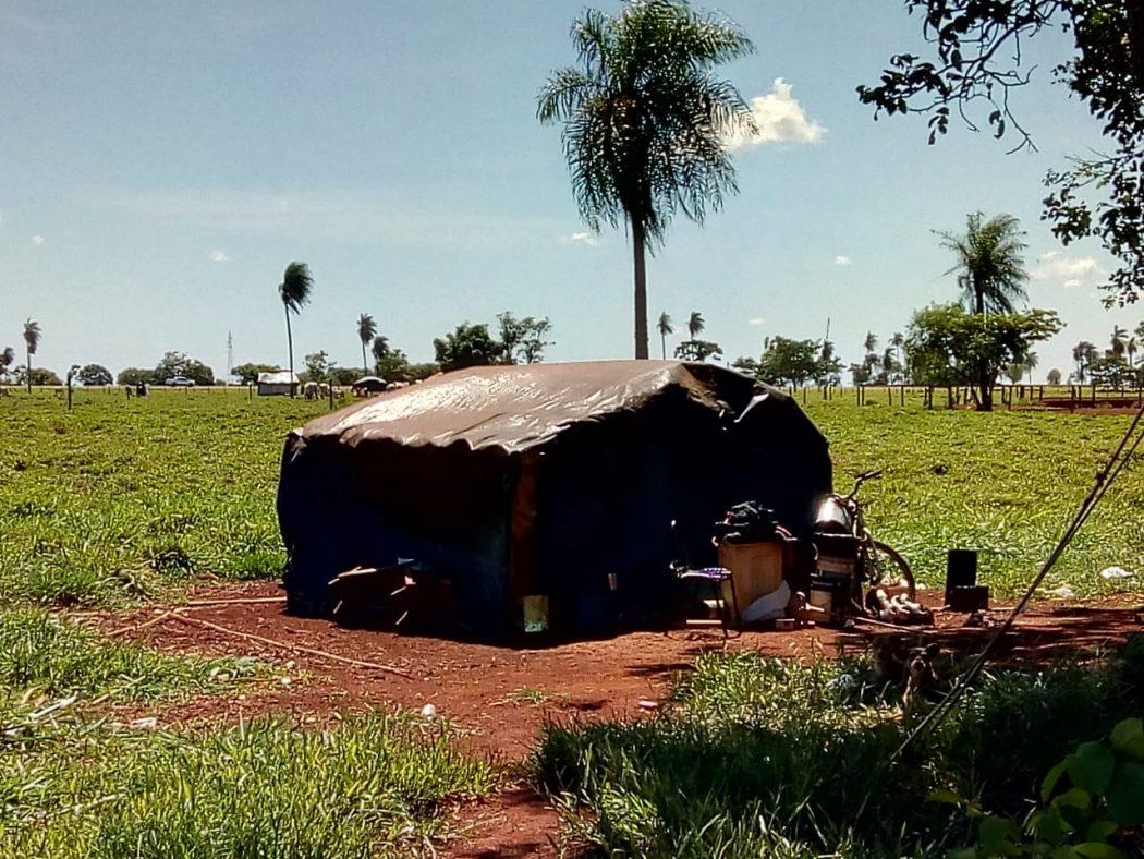 Barracos em Laranjeira Nhanderu. Foto: Cimi MS