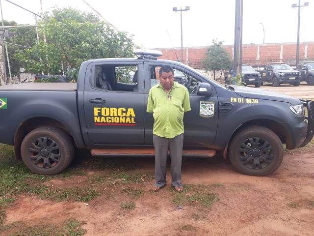 Leonardo de Souza, preso pela Força Nacional. Foto: divulgação