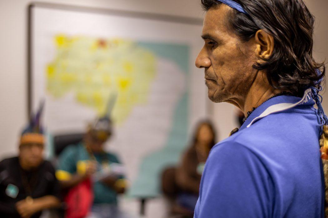 Lideranças da Terra Indígena Maraguá cobraram demarcação e fiscalização da Funai em áreas invadidas. Foto: Tiago Miotto