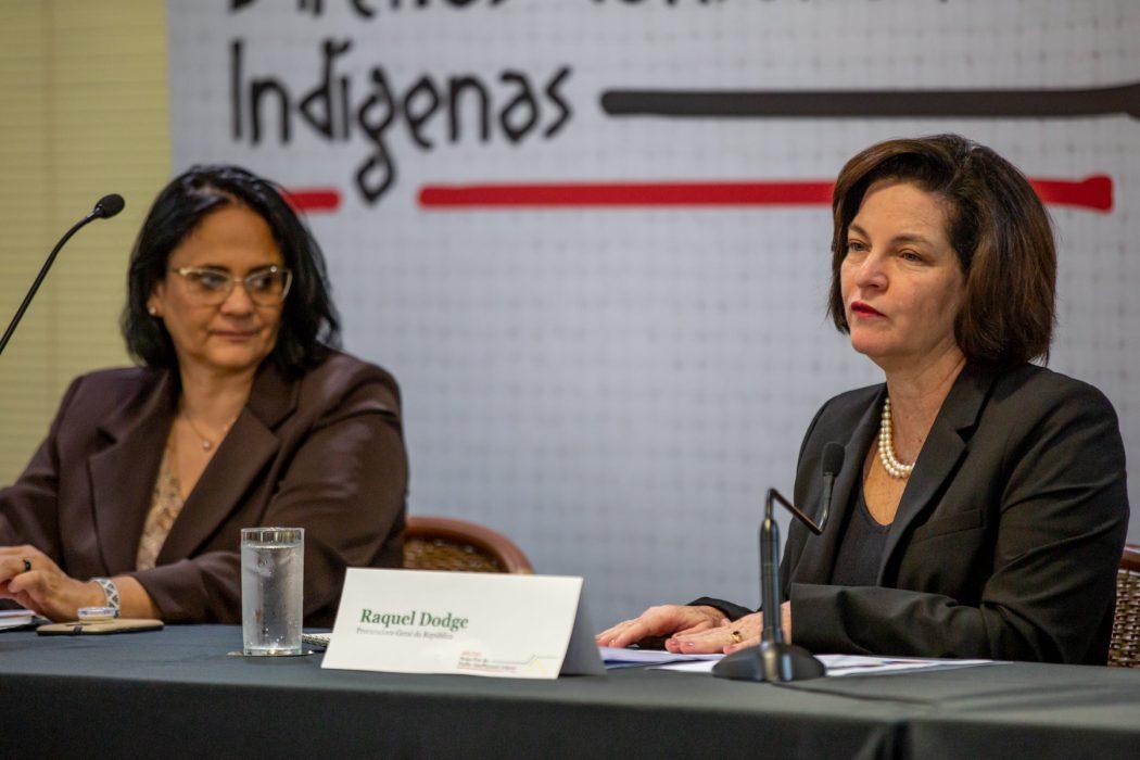 A Procuradora-Geral da República, Raquel Dodge, fez a fala de abertura do evento. Foto: Tiago Miotto/Cimi
