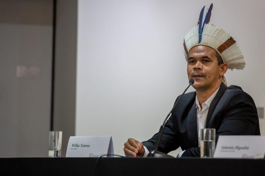 O indígena Fulni-ô, Wilke Torres de Melo saiu em defesa dos povos quando da afirmação de Salles. Foto: Tiago Miotto/Cimi
