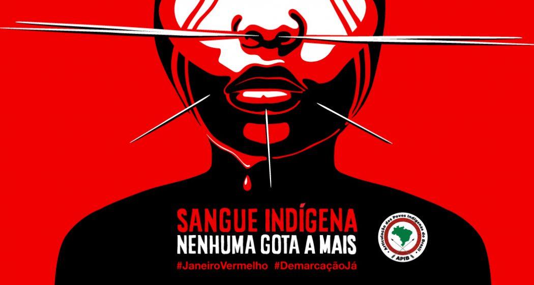 """Campanha """"Sangue Indígena: nenhuma gota a mais"""""""