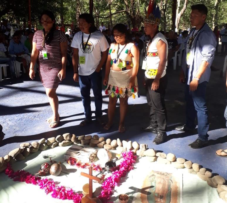Jovens indígenas do Brasil na EMJI. Foto: Cimi Rondônia