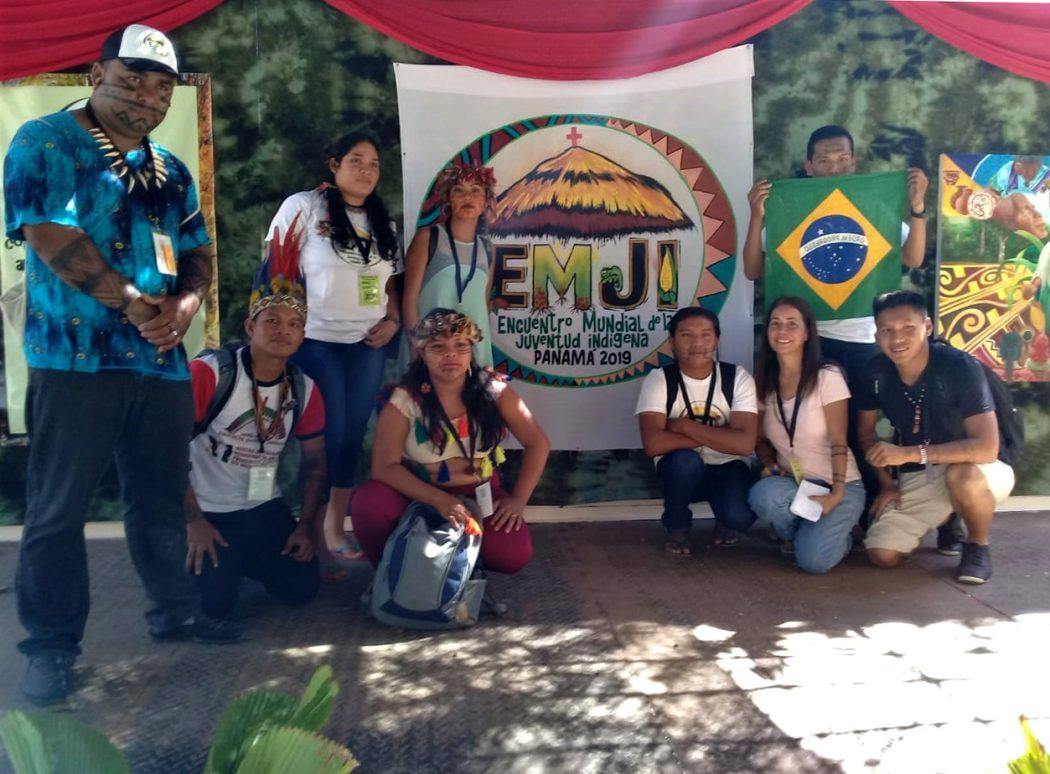 Delegação indígena brasileira no EMJI, no Panamá. Foto: Cimi Rondônia