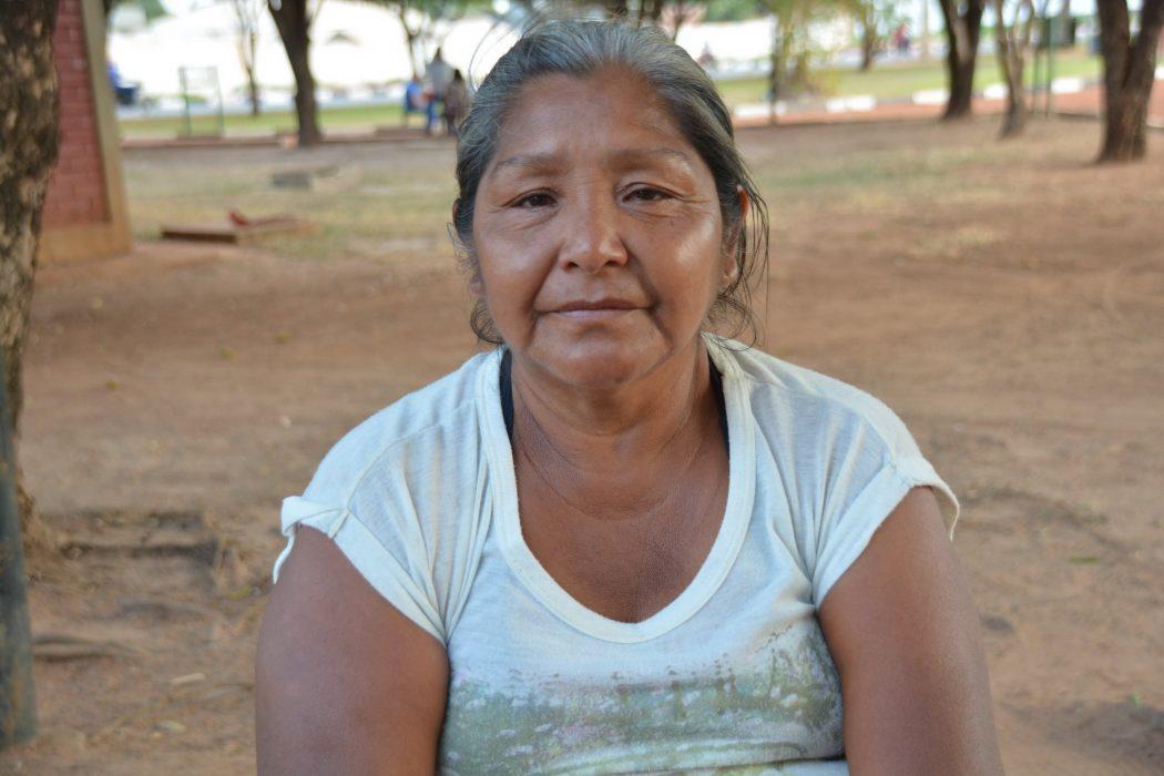Erminia Ratti veio de Tucupita para assistir o filho Jean Luiz internado em Boa Vista. Foto por Jaime C. Patias