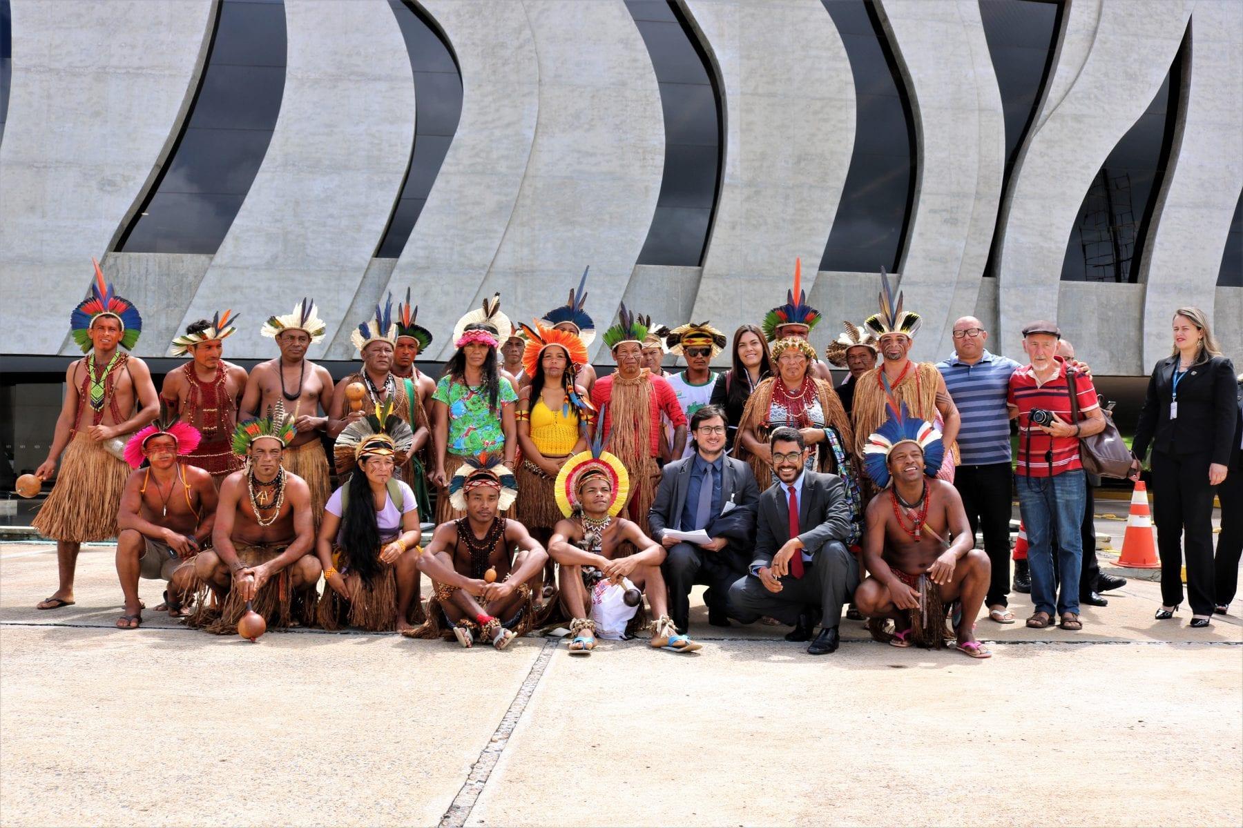 A delegação baiana, que está na capital federal, é composta pelos povos Pataxó, Pataxó Hã-Hã-Hãe, Tupinambá de Olivença e Tupinambá de Belmonte. Foto por Adilvane Spezia, da Ascom/Cimi