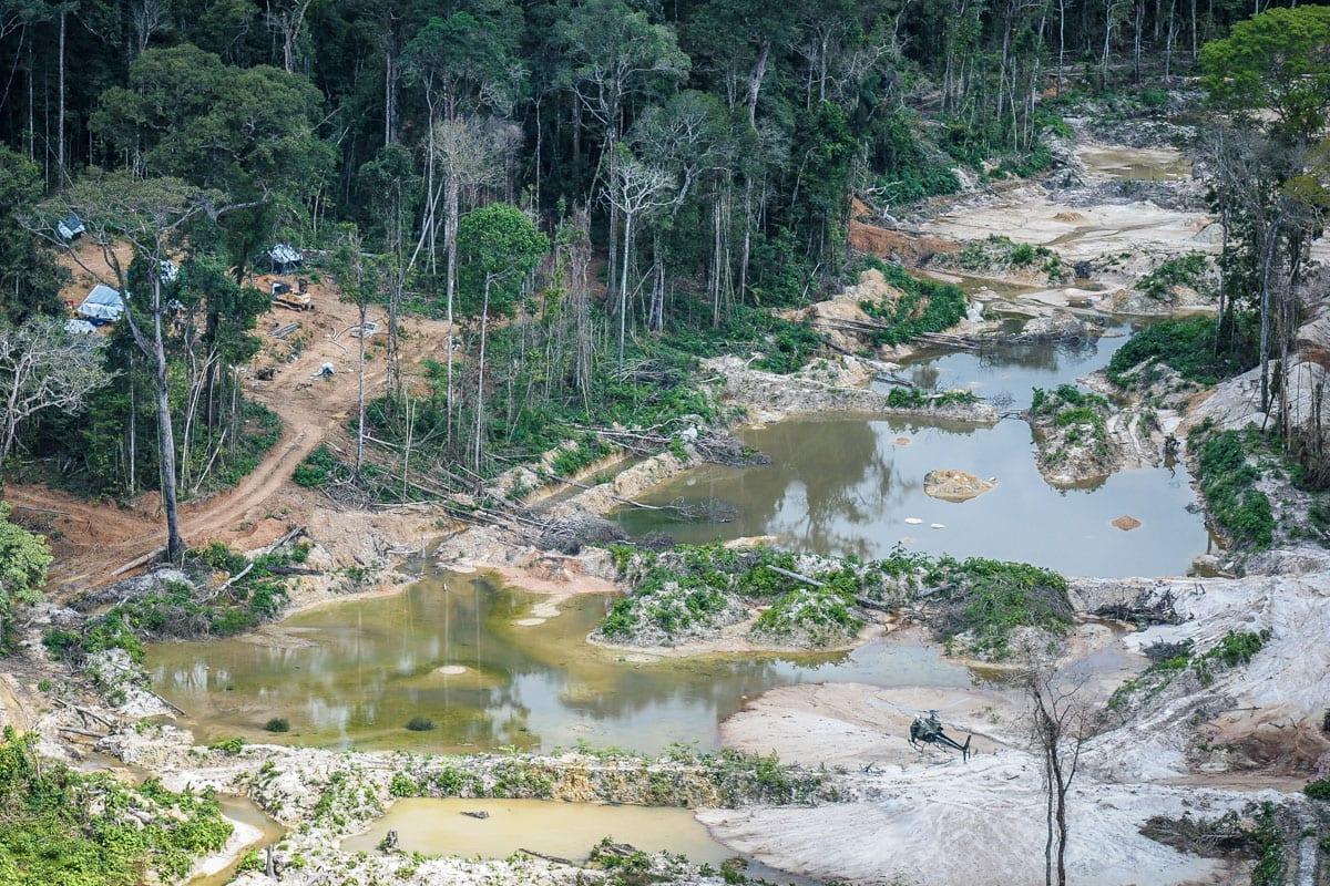 Garimpo ilegal desativado na região da Terra Indígena Munduruku, no sul do Pará. Foto: Vinícius Mendonça/Ibama