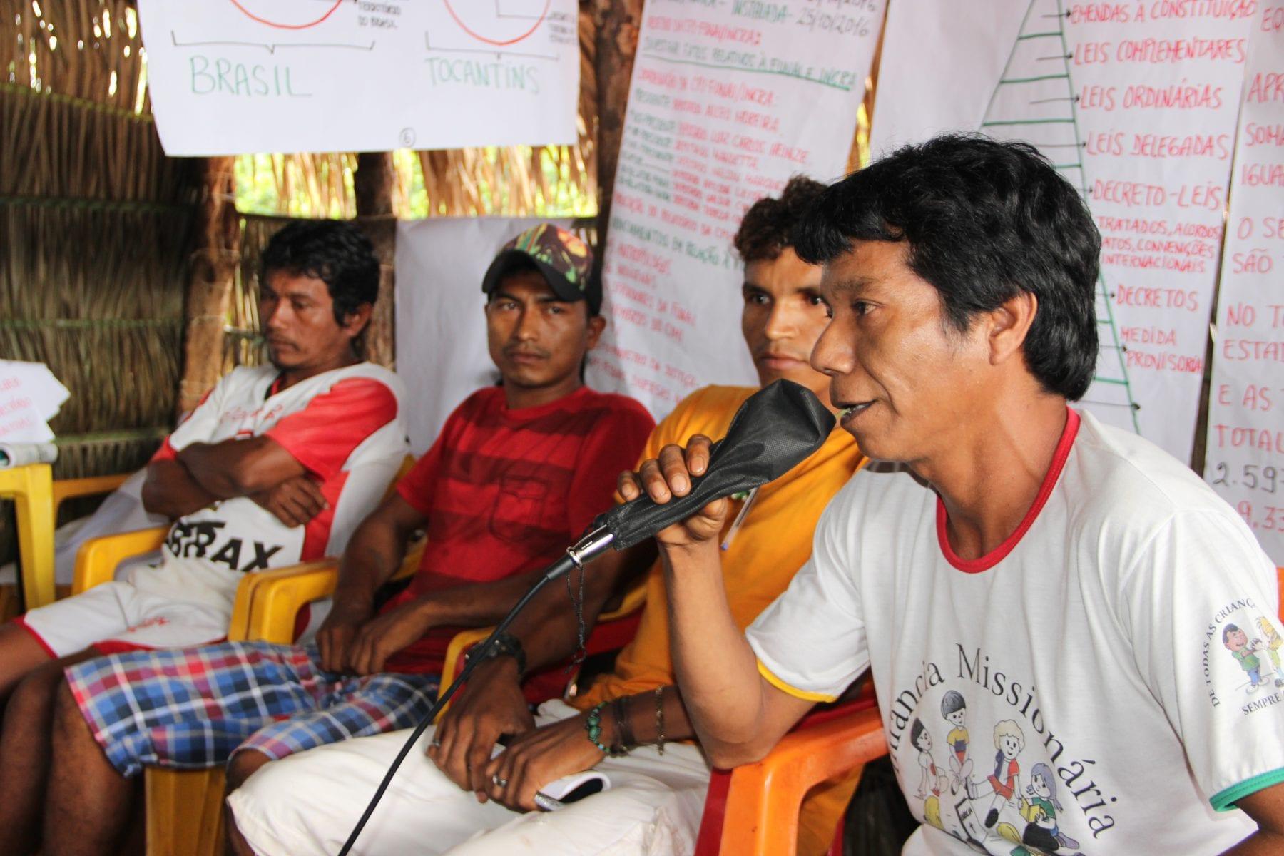 O Encontro reuniu 140 lideranças indígenas de 30 aldeias Apinajé. Foto: Laudovina Pereira - Regional CIMI GO/TO