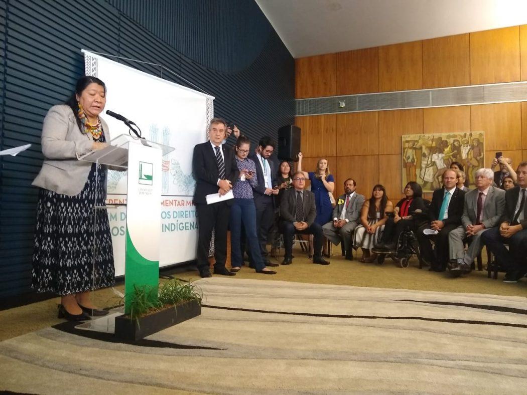 Frente em Defesa dos Direitos dos Povos Indígenas é lançada no Congresso Nacional com 248 parlamentares