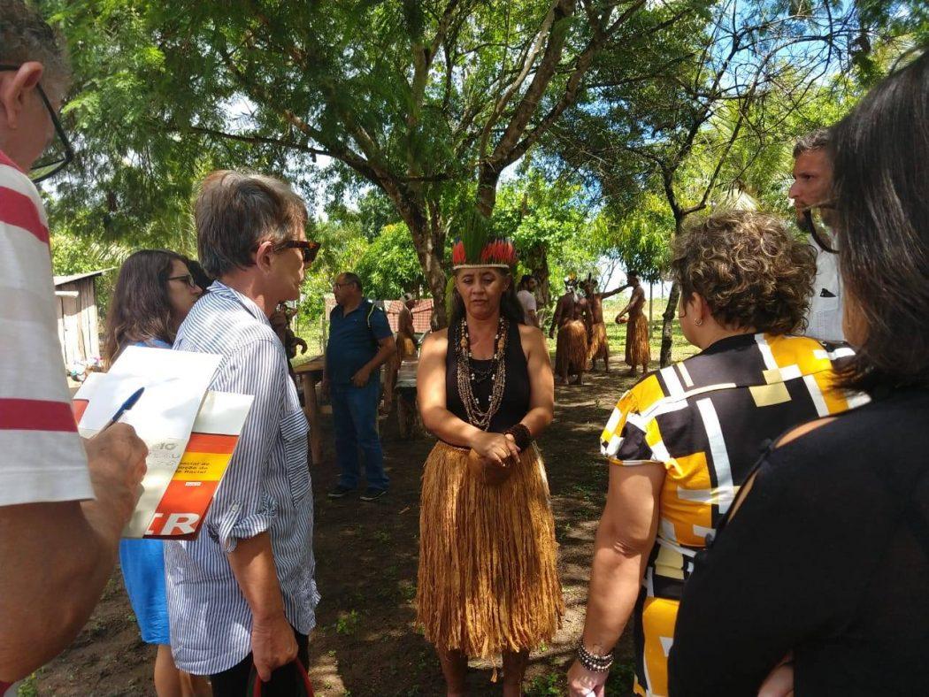 Primeiro dia da missão do CNDH no sul da Bahia, na Terra Indígena Tupinambá de Belmonte. Foto: Ascom/CNDH