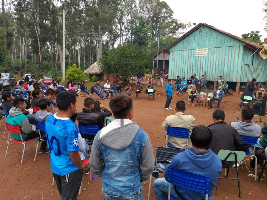 Os indígenas presentes no Encontro de Caciques e Professores Mbya Guarani representaram mais de 40 aldeias de todo o Rio Grande do Sul