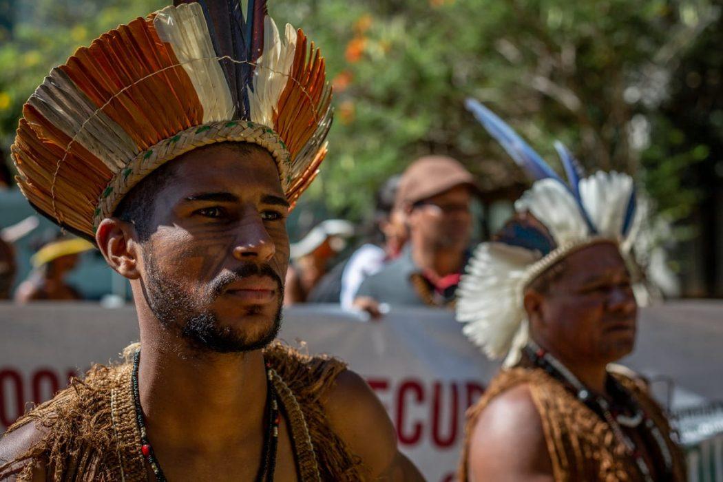Marcha em defesa de políticas de permanência para indígenas e quilombolas no ensino superior. Foto: Tiago Miotto/Cimi