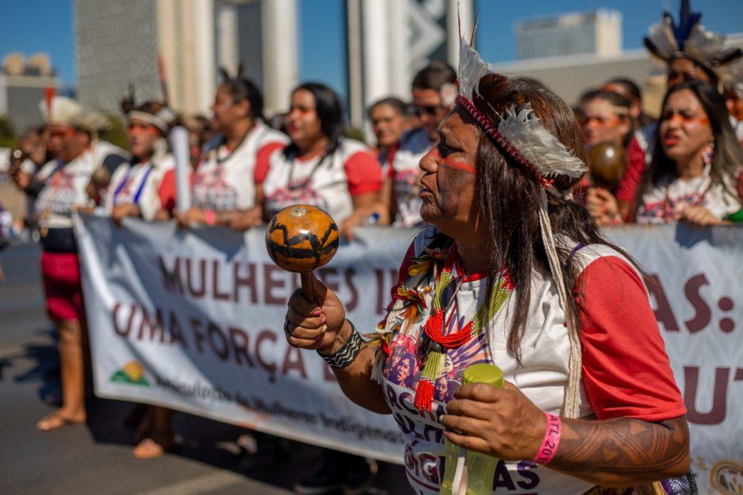Para as indígenas, o território é o corpo e o espírito do mundo inteiro. Foto: Tiago Miotto/Cimi