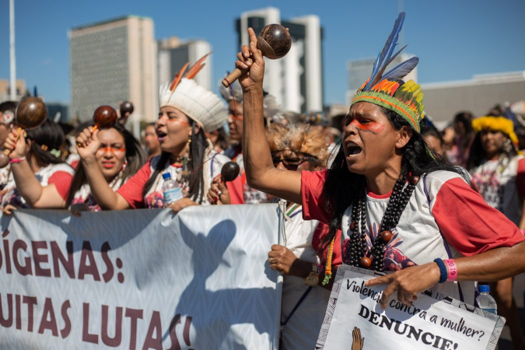 Na terça-feira (13), mulheres indígenas ocuparam Brasília em defesa dos seus direitos. Foto: Tiago Miotto/Cimi