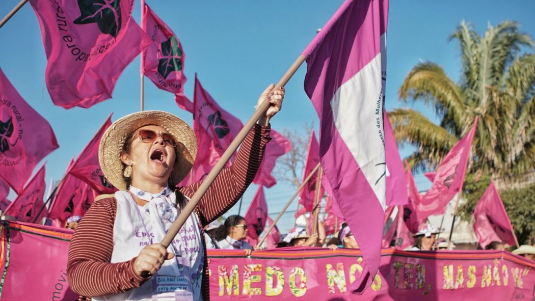 """A sexta Marcha das Margaridas teve como tema """"Margaridas na luta por um Brasil com Soberania Popular, Democracia, Justiça, Igualdade e Livre de Violência"""". Foto: Andressa Zumpano/CPT-MA"""