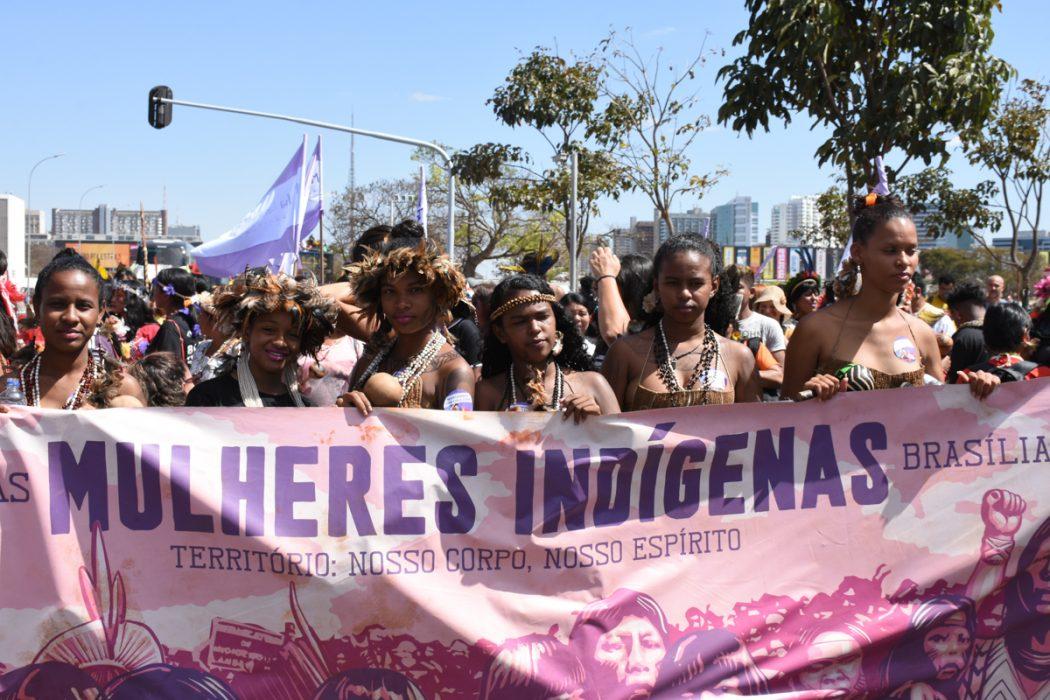 Em semana de mobilização, Mulheres Indígenas somaram-se à Marcha das Margaridas. Foto: Douglas Mansur