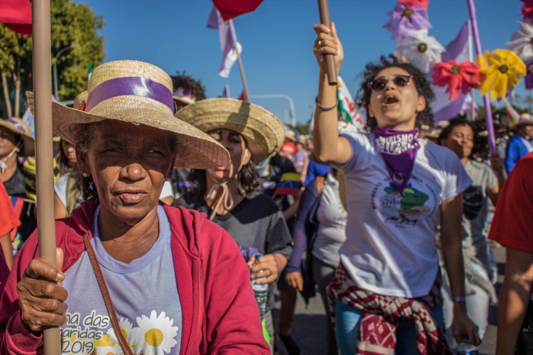 Cem mil mulheres ocuparam Brasília durante a Marcha das Margaridas. Foto: Mele Dornelas