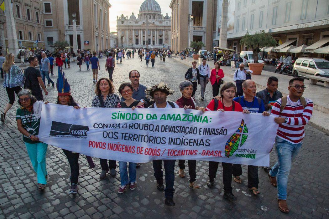 Sínodo da Amazônia: Contra o roubo, devastação e invasão das Terras Indígenas. Foto: Guilherme Cavalli/Cimi